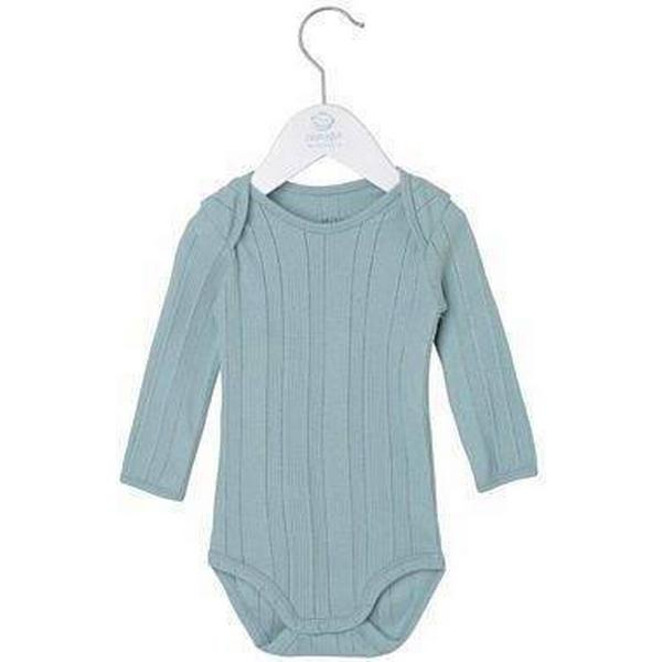 Noa Noa Miniature Long Sleeved Body with Ribbed Pattern - Baby Blue (2-3690-2)