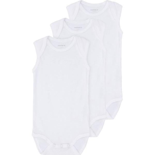 Name It Infant Bodysuit 3-pack White (13139825)