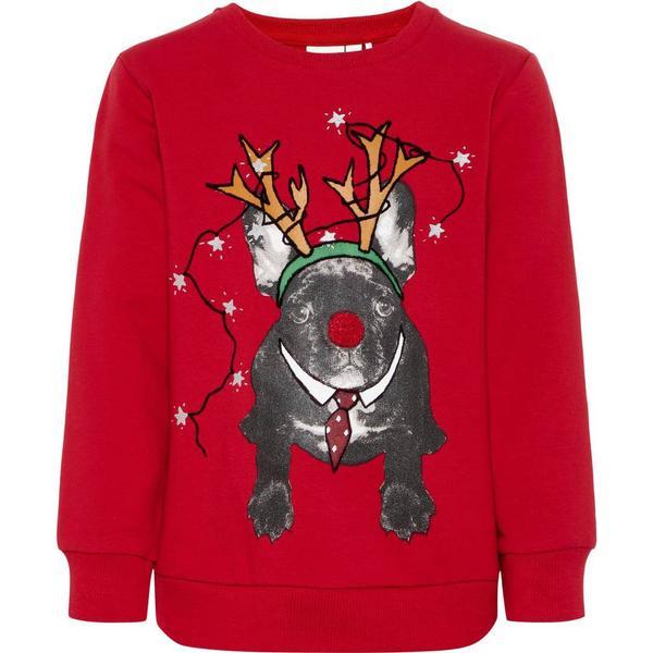 Name It Mini Christmas Print Sweatshirt - Red/Jester Red (13159491)