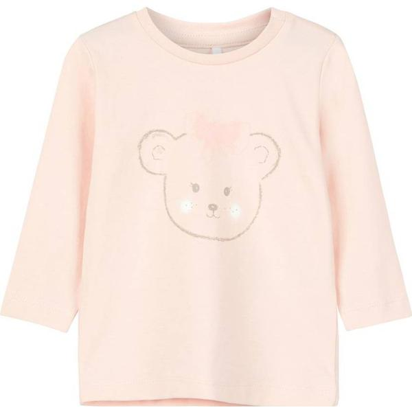 Name It Baby Printed Long Sleeved T- shirt - Pink/Strawberry Cream (13164818)