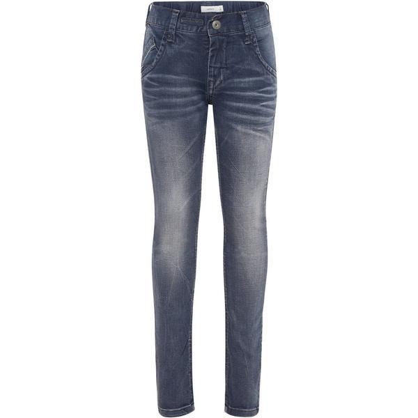 Name It Kids Comfortable Stretch Jeans - Grey/Dark Grey Denim (13147951)
