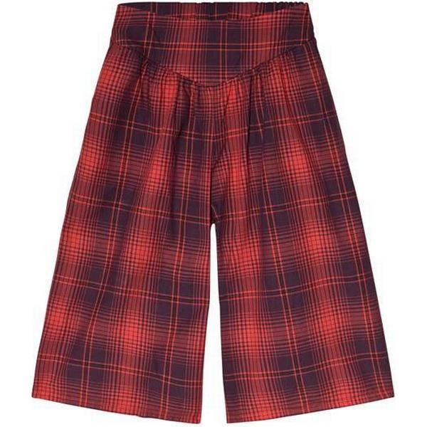 Bobo Choses Tartan Culotte Trousers - Red Clay (218300-408)