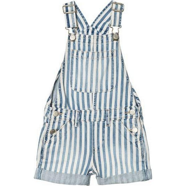 GAP Railroad Stripe Shortalls - Blue (000229606)