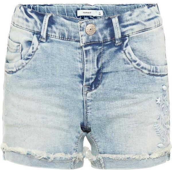 Name It Kid's Slim Fit Super Stretch Denim Shorts - Blue/Light Blue Denim (13164426)
