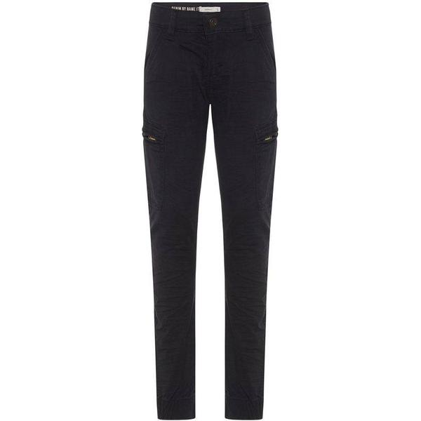 Name It Kid's Twill Woven Cargo Trousers - Black/Black (13159153)