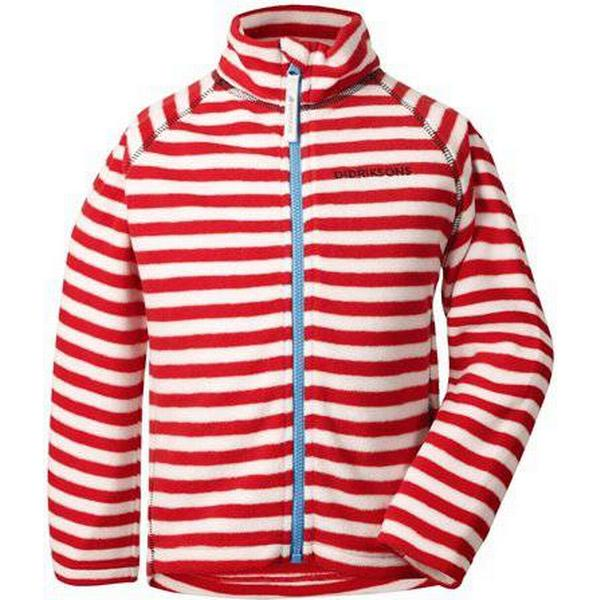 Didriksons Monte Printed Kid's Jacket - Chili Red Simple Stripe (502464-946)