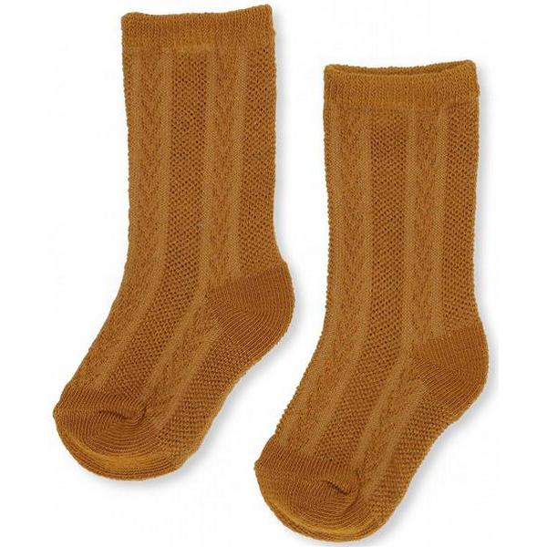 Konges Sløjd Fuma Sock Pointelle - Dark Honey