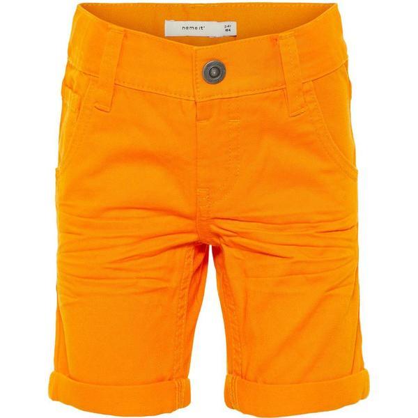 Name It Mini Long Cotton Shorts - Orange/Flame Orange (13153797)