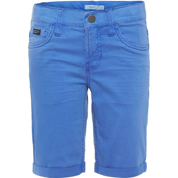 Name It Kid's Long Slim Fit Shorts - Blue/Strong Blue (13164842)