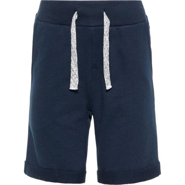 Name It Kid's Cotton Sweat Shorts - Blue/Dark Sapphire (13161730)