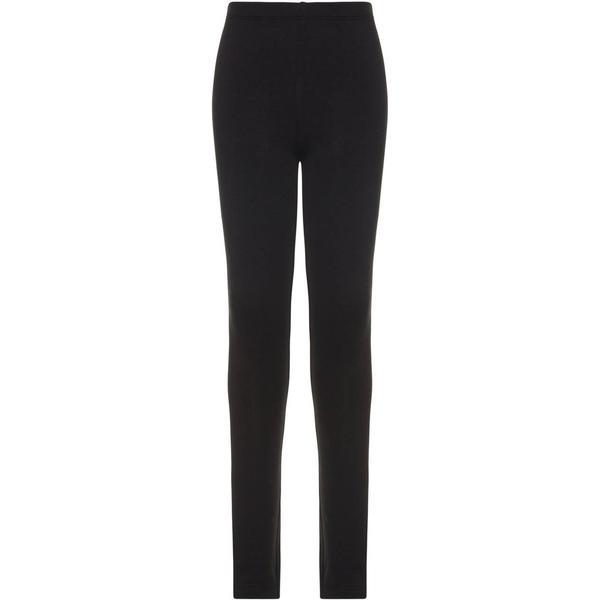 Name It Kid's Solid Coloured Sweat Leggings - Black/Black (13160778)