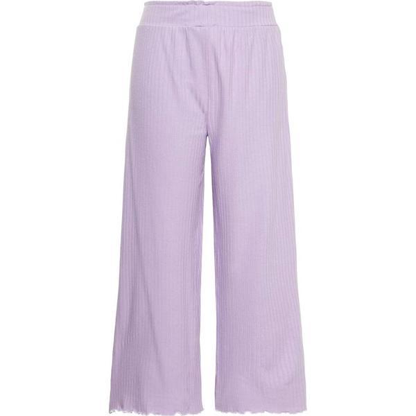 Name It Kid's Ribbed Culotte Trousers - Purple/Lavendula (13165584)