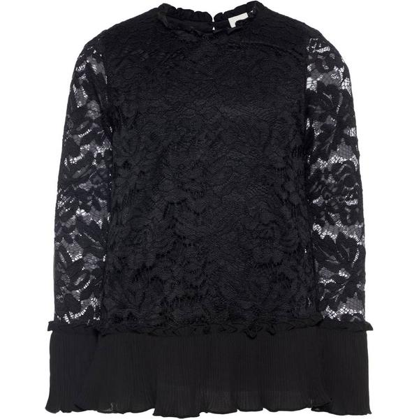 Name It Kid's Long Sleeved Lace Blouse - Black/Black (13161601)