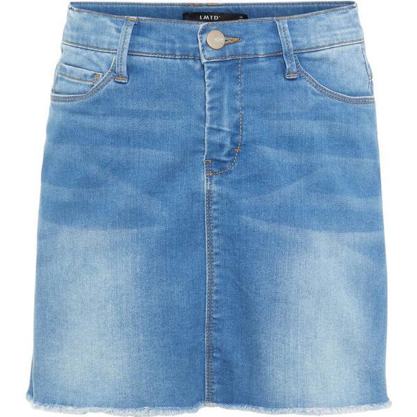 Teen Frayed Denim Skirt - Blue/Light Blue Denim (13169027)