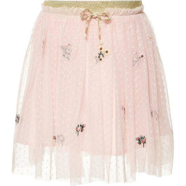 Name It Mini Floral Embroidered Tulle Skirt - Pink/Strawberry Cream (13165643)