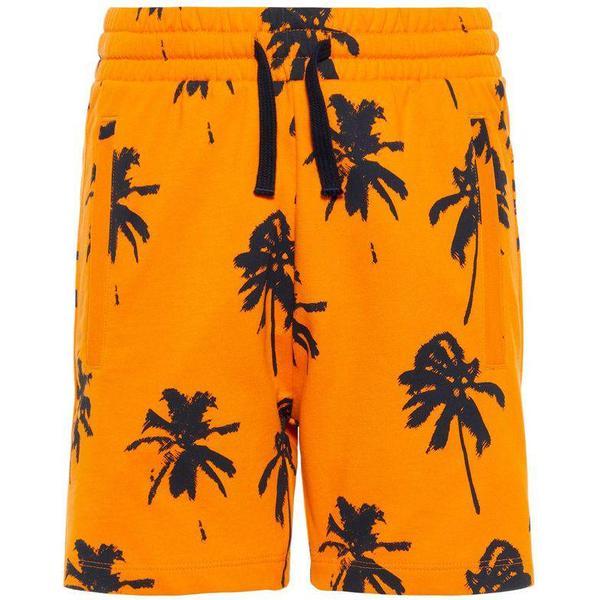 Name It Teen Palm Print Sweat Shorts - Orange/Sun Orange (13166496)