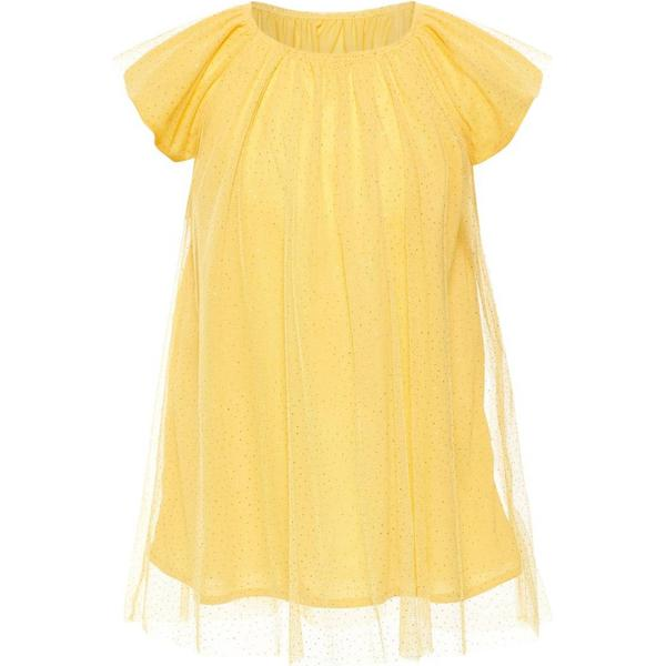 Name It Mini Gold Dotted Tulle Dress - Yellow/Pale Marigold (13166140)