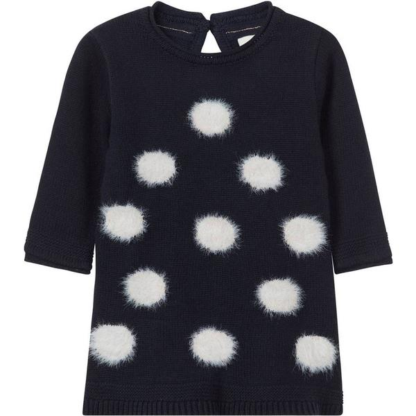 Name It Baby Dotted Knit Dress - Blue/Dark Sapphire (13159442)