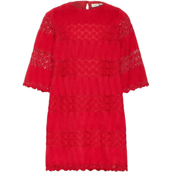 Name It Kid's Pleated Woven A-Line Dress - Red/Jester Red (13159005)