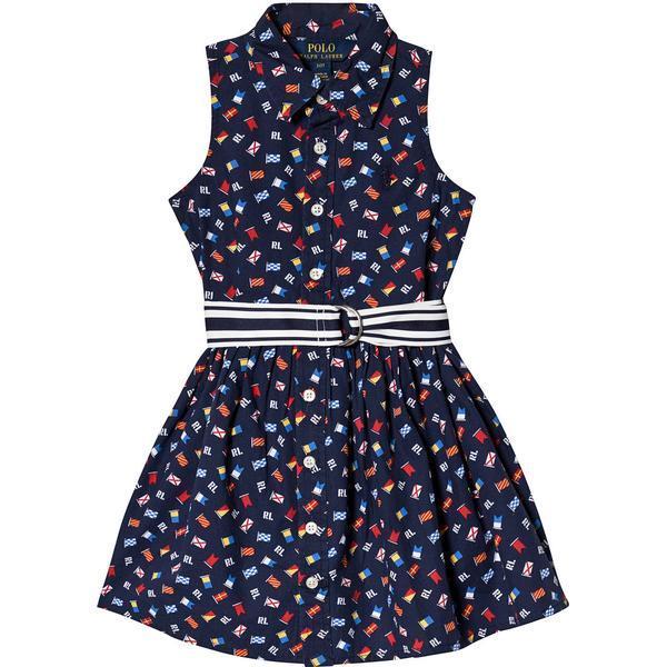 Ralph Lauren Flag Belted Cotton Shirtdress - Navy/Multi (475275)