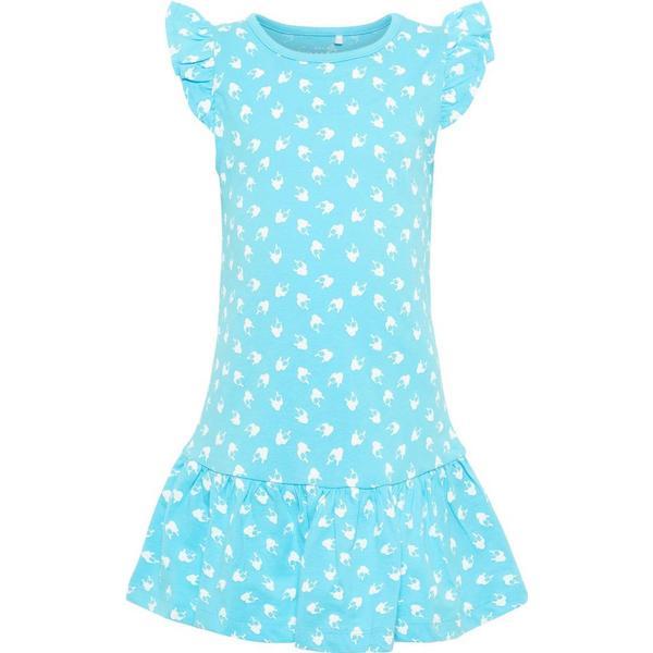 Name It Mini Printed Cotton Dress - Blue/Bachelor Button (13164317)