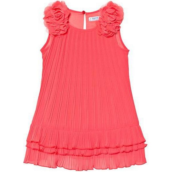 Mayoral Pleated Dress with Ruffles - Coral (29-03926-059)