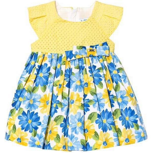 Mayoral Patterned Skirt Dress - Yellow (29-01927-045)