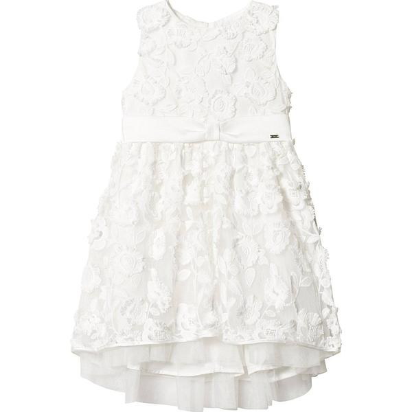 Mayoral Embossed Tulle Flowers Dress - Off White (29-03907-091)