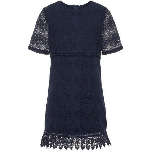 Name It Kid's Lace Dress - Blue/Dark Sapphire (13150342)