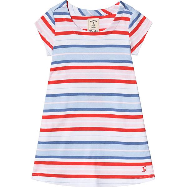 Tom Joule Riviera Short Sleeve Dress - Blue Multi Stripe (203085)