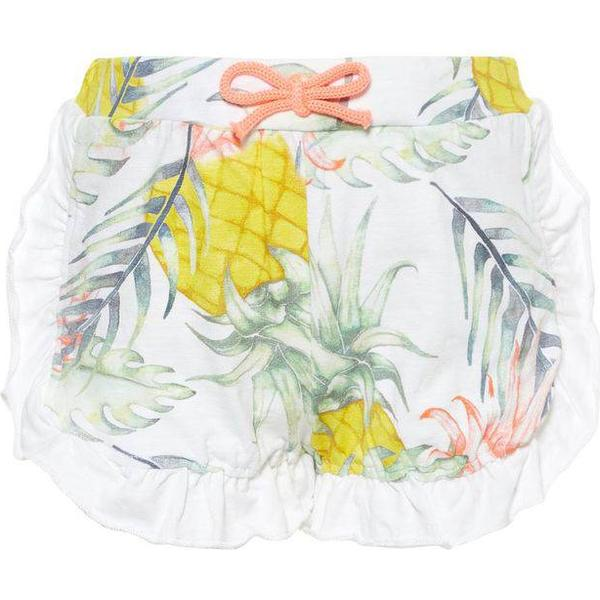 Name It Mini Tropical Print Shorts - White/Bright White (13165545)