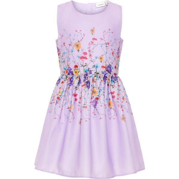 Name It Kid's Floral Print Dress - Purple/Lavendula (13166414)