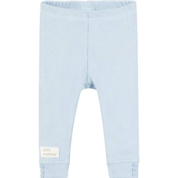 Name It Baby Cotton Rib Leggings - Blue/Skyway (13163338)
