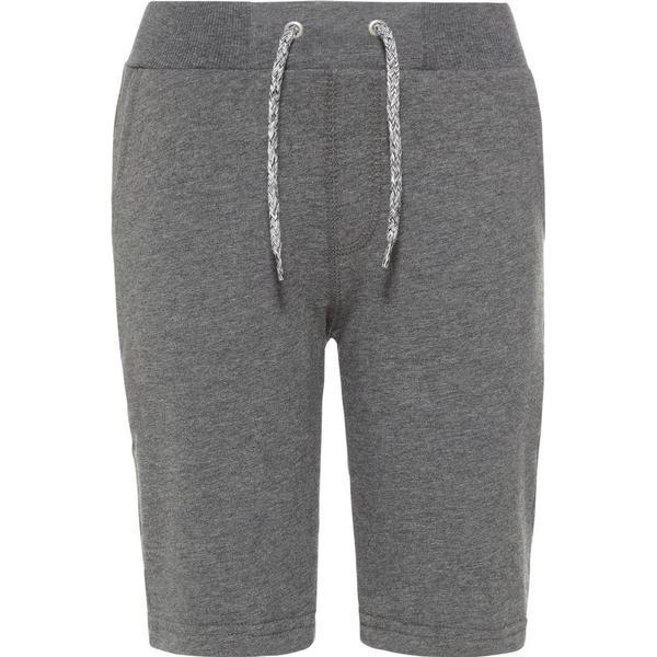 Name It Kid's Long Sweat Shorts - Grey/Dark Grey Melange (13153502)