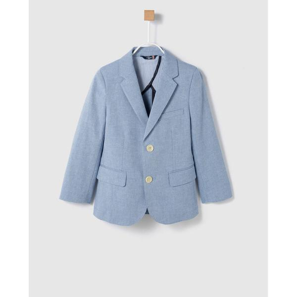 Tizzas Boy's Plain Blazer - Light Blue