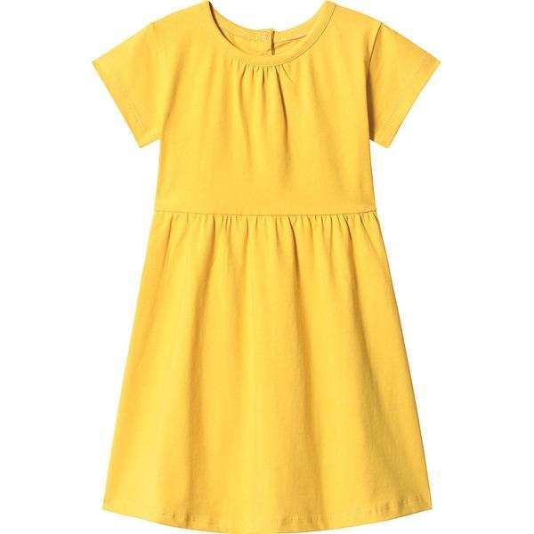 A Happy Brand Short Sleeve Dress - Yellow (372560)