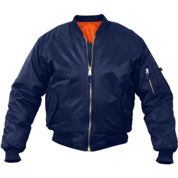 Rothco Kid's MA-1 Flight Jackets - Navy Blue
