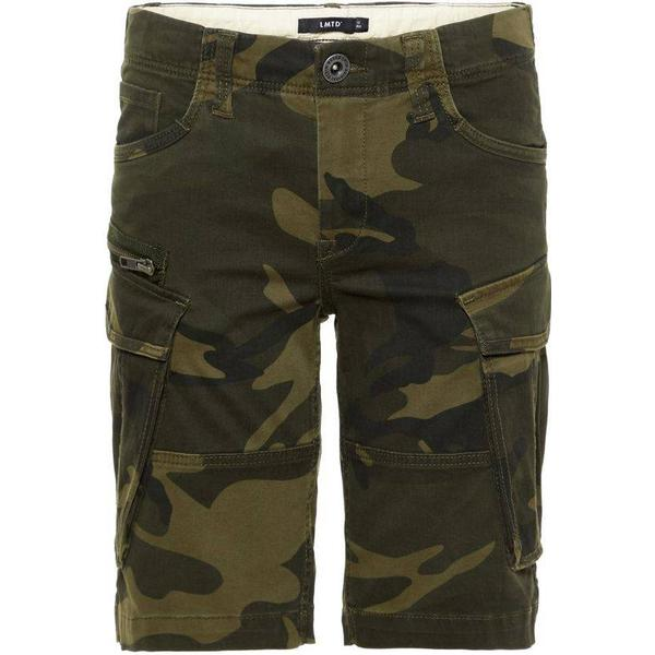 Name It Teen Regular Fit Camo Printed Shorts - Green/Ivy Green (13164803)