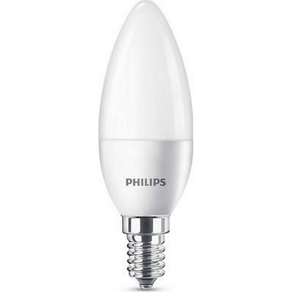 Philips Candle 2700K LED Lamps 5.5W E14 2-pack