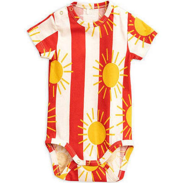 Mini Rodini Sun Stripe Short Sleeve Body - Red (1964010142)