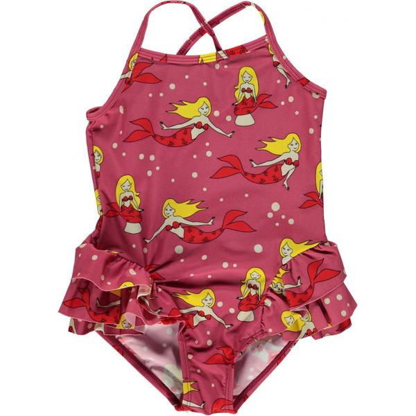 Småfolk Swimsuit with Ruffles & Mermaid - Rapture Rose (91-9912)