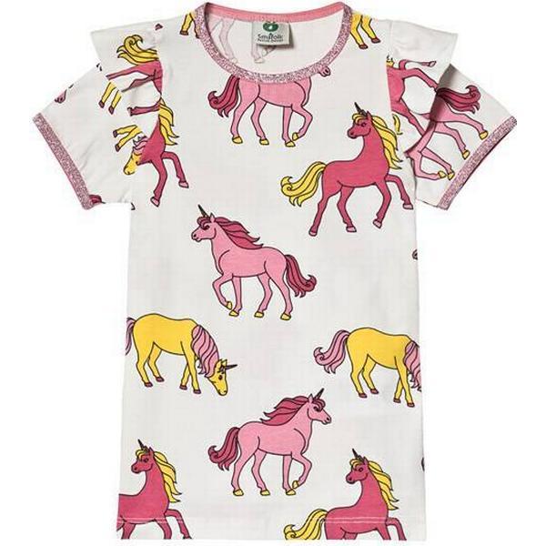 Småfolk Horse Print T-Shirt - Cream Frill (92-1195)