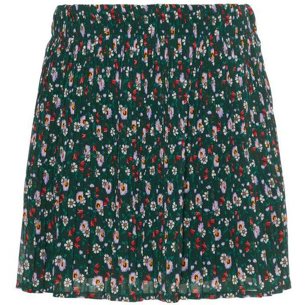 Name It Kid's Pleated Floral Print Skirt - Green/Green Gables (13167254)