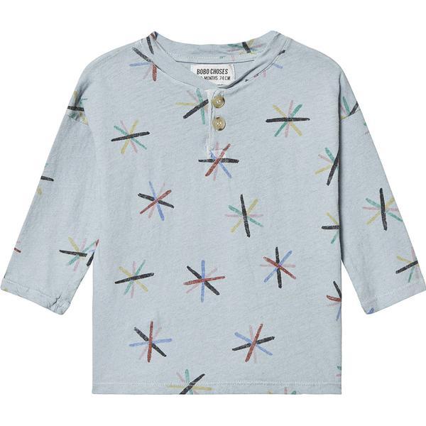 Bobo Choses Dandelion Buttons T-shirt - Light Blue (119164)
