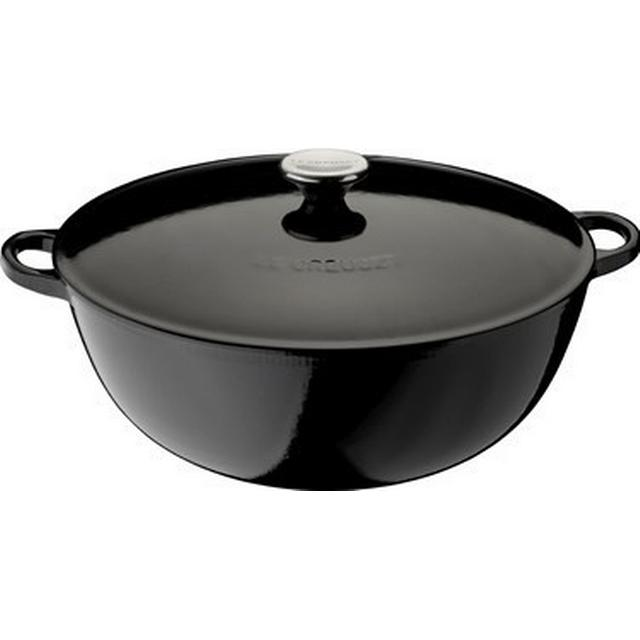 Le Creuset Black Gryde med låg 32cm