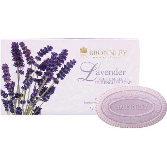 Bronnley Lavender Triple Milled Soap 100g 3-pack
