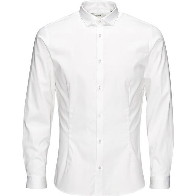 Jack & Jones Casual Slim Fit Long Sleeved Shirt - White/White