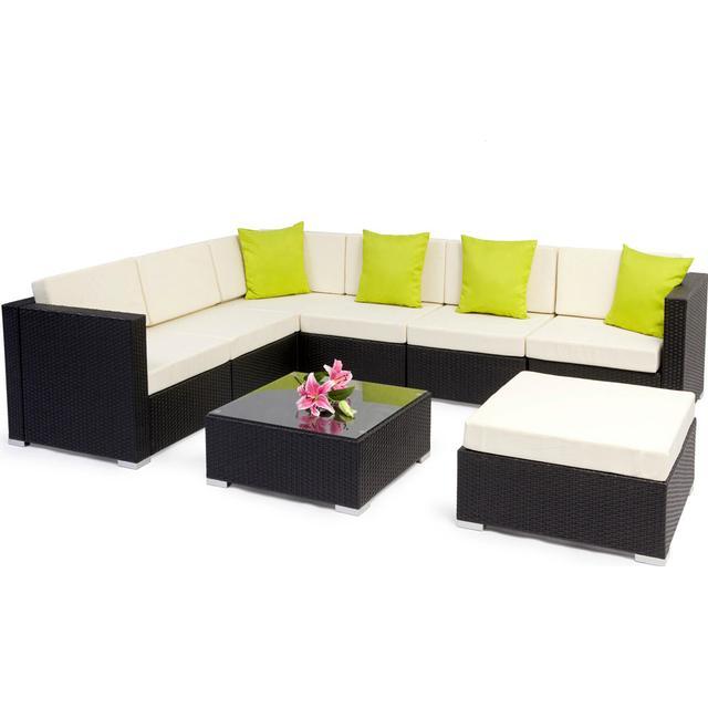 tectake Polyrattan Loungesæt Marbella Loungesæt