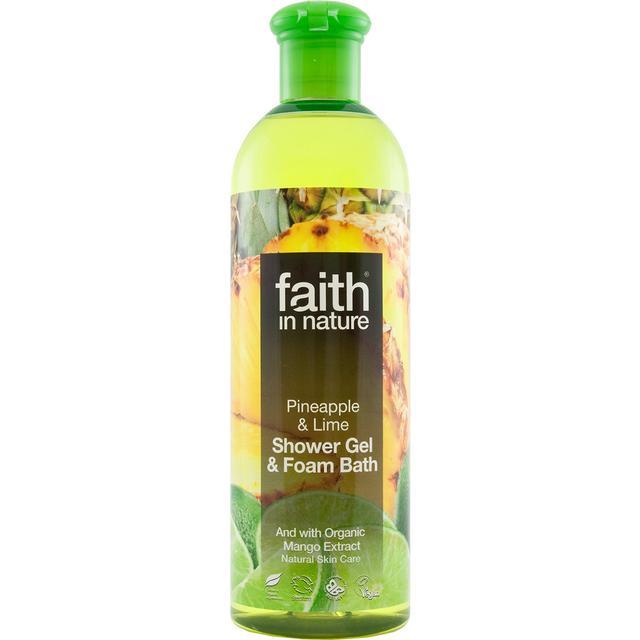 Faith in Nature Pineapple & Lime Shower Gel & Foam Bath 400ml