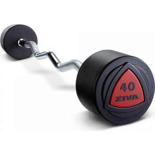 Ziva Urethane Curl Weight Bar 40kg